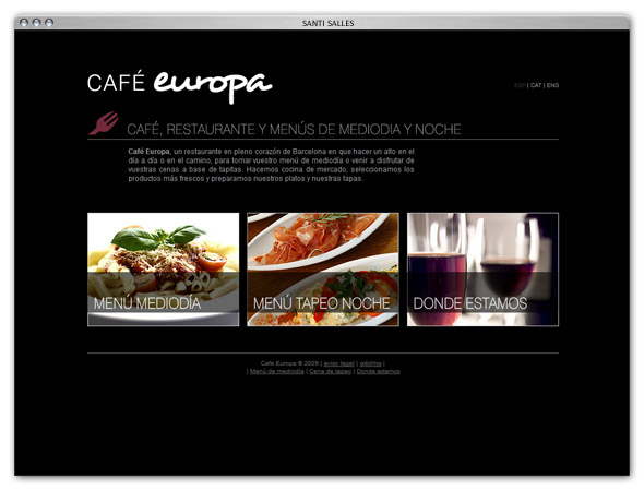 Cafe europa barcelona pagina web del cafe bar restaurante for Web del barsa